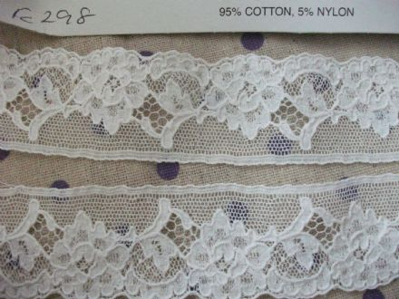 Exclusive English Nottingham Cotton Cluny Lace WHITE Vintage style FC298